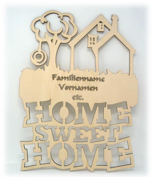 Holz Türschild Familie Sweet Home