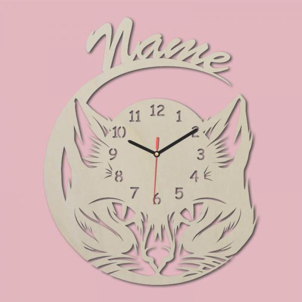 Geschenke für Katzenliebhaber Katze Wanduhr Katzengeschenke Uhr Unbehandelt