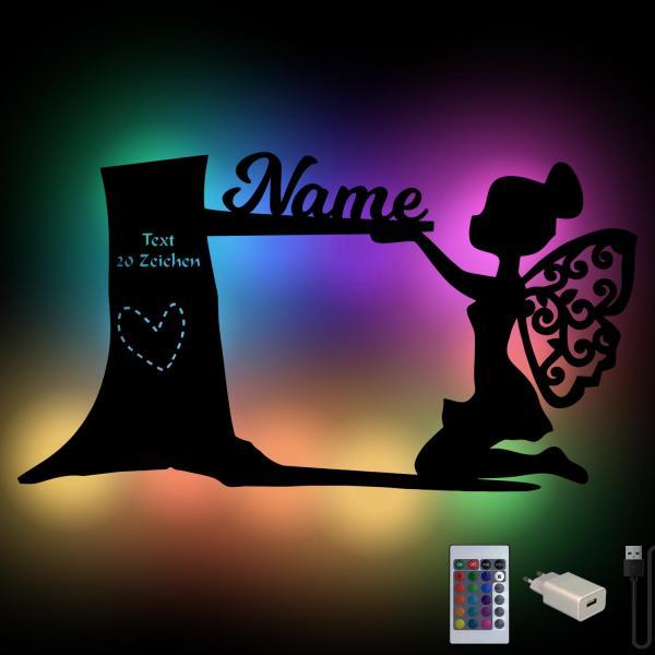 Fee Holz Geschenke Lampe USB