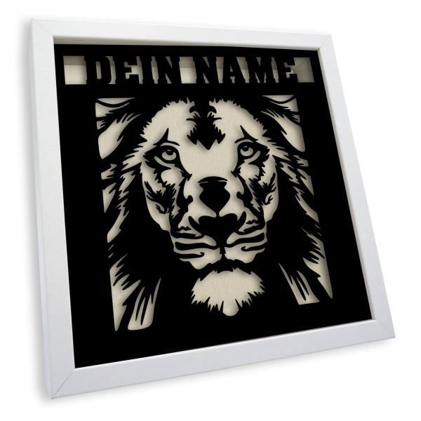 3D Rahmen Löwen Geschenke Tisch Lampe LED
