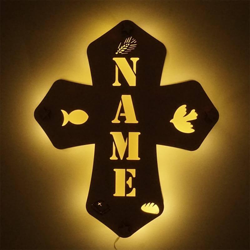 - Kinderkreuz personalisiertes Kreuz zur Taufe Holz - Onlineshop Schlummerlicht24