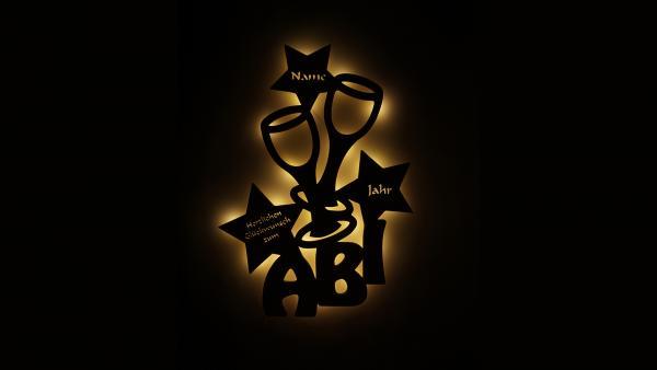 Abiur Geschenk Lampe
