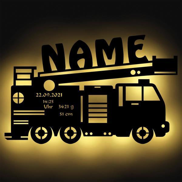 Feuerwehr Lampe mit Namen personalisiert