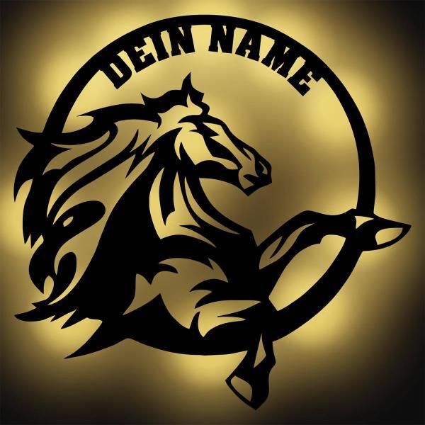 Nachtlicht Pferdeliebhaber mit Namen personalisiert