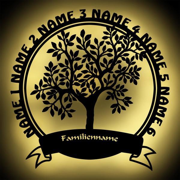 Familiengeschenke Lebensbaum Stammbaum Familie Geschenk personalisiert mit 6 Namen