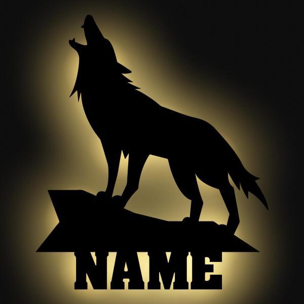 wolf lampe