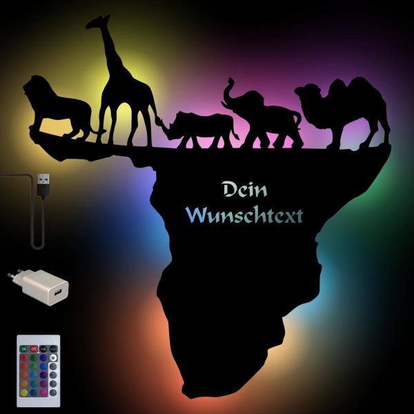 Farbwechsel USB Deko Lampe Afrika