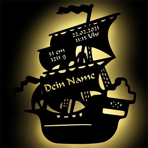 Piratenschiff Nachtlicht