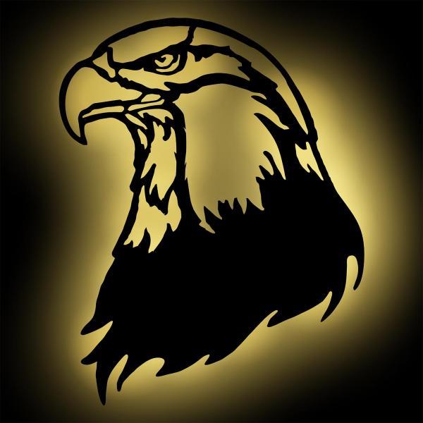 Adler LED Holz Lampe Nachtlicht