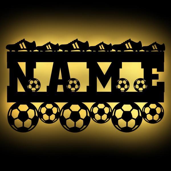 Fußball Deko Lampe Geschenke mit Namen