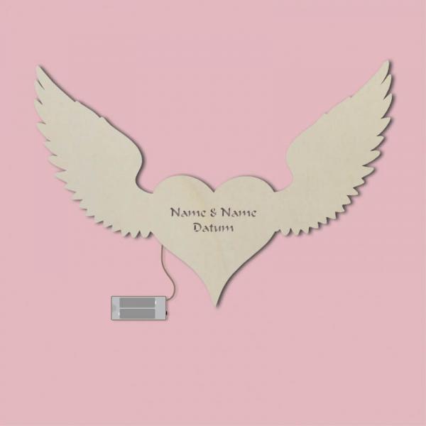 Geschenkidee für Verliebte Herz Flügel Geschenke Licht Unbehandelt