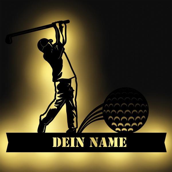 Golf Sport LED Deko Geschenk personalisiert