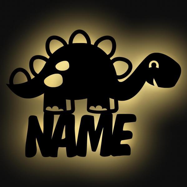 Dino Nachtlicht mit Namen