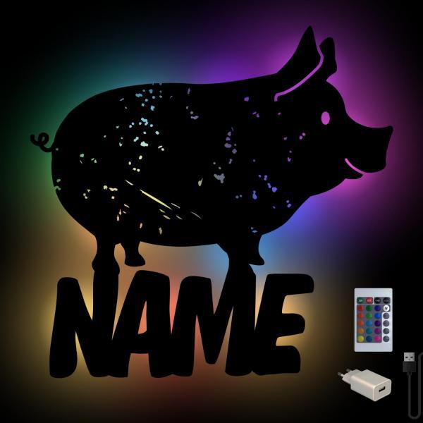 Landwirte Schwein Geschenke Deko Lampe
