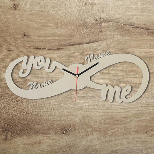 Unendlichzeichen Uhr