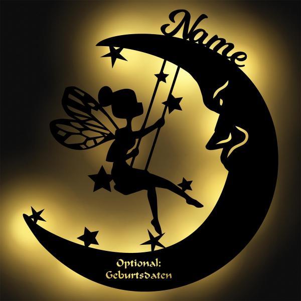 Fee auf Mond mit Namen Nachtlicht