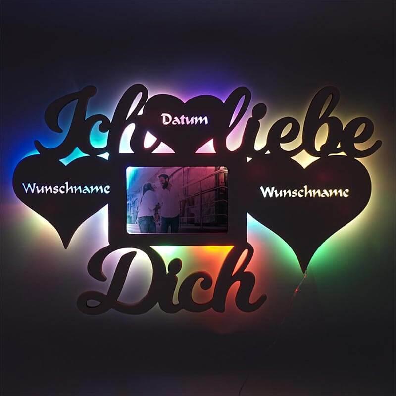 - RGB USB LED Bilderrahmen 10x15 cm Liebe - Onlineshop Schlummerlicht24