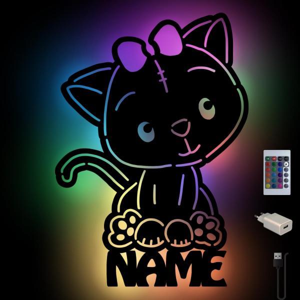 Katze Wanddeko Nachtlicht Lampe Schlummerlicht