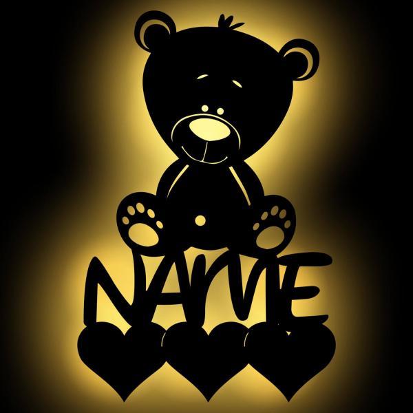 Bärchen Teddybär Nachtlicht personalisiert