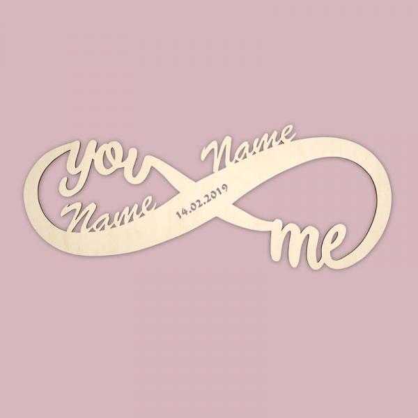 unendlich you me mit deinen namen
