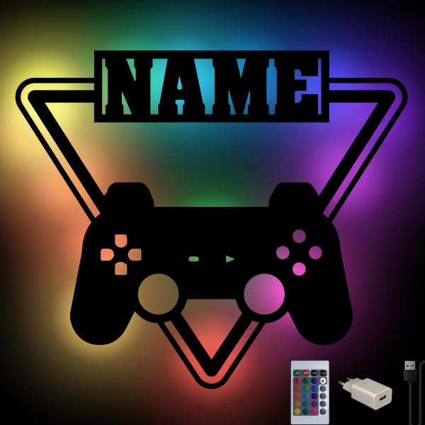 Farbwechsel Gamer Geschenke mit Namen