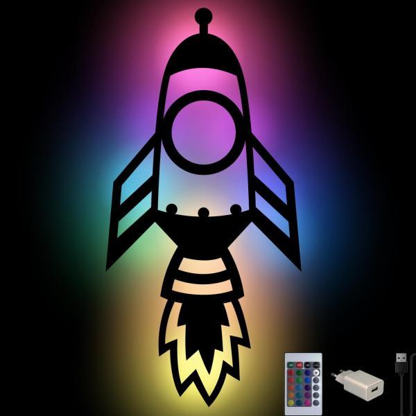 Rakete Wandlampe Lampe Nachtlicht