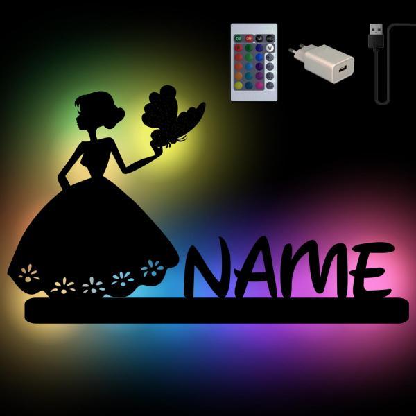 Schmetterling Prinzessin Nachtlicht Wand Lampe Farbwechsel