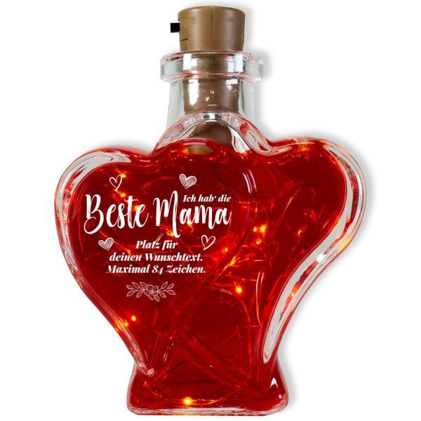 Flaschenlicht mit Namen personalisiert Beste Mama