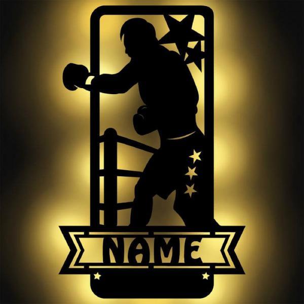Boxsport Boxer Boxing Geschenke mit Beleuchtung