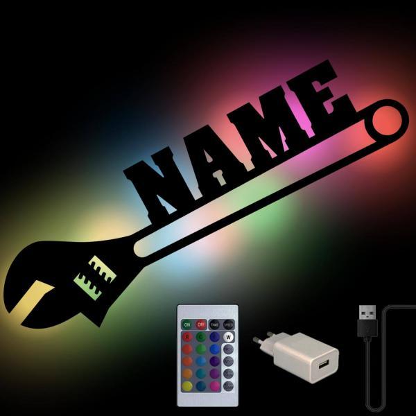 Schraubenschlüssel personalisiert mit Namen