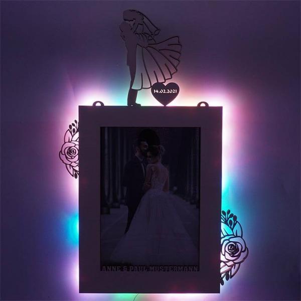 Hochzeitsgeschenk Bilderrahmen USB RGB