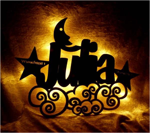 Mond Sterne Himmel Geschenke zur Geburt mit Namen