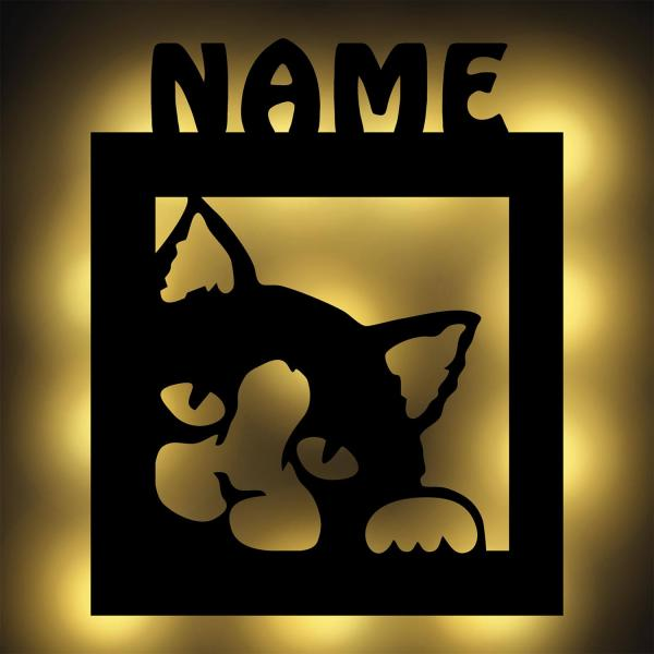 Katze Nachtlicht Deko Lampe led