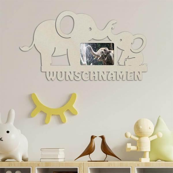 Elefanten Bilderrahmen + Personalisierung