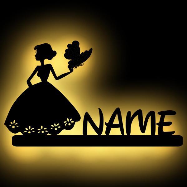 Prinzessin Wand Lampe mit Schmetterling