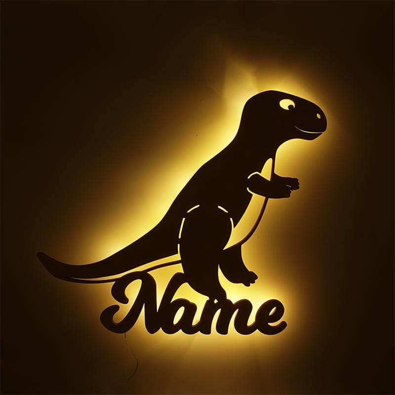 - Dino Lampe *T Rex* Dinosaurier Nachtlicht mit Namen - Onlineshop Schlummerlicht24
