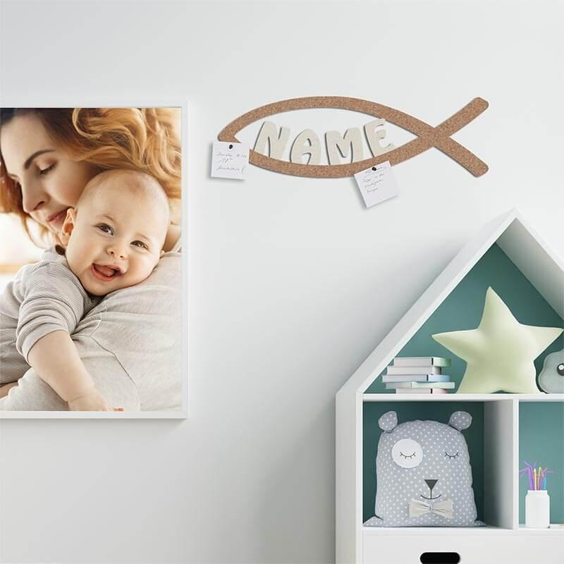 - Pinnwand Memoboard Fisch Personalisierung - Onlineshop Schlummerlicht24