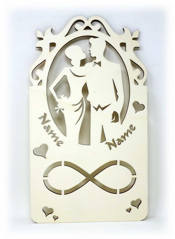 - Hochzeitspaar Geldgeschenk personalisiert mit Namen - Onlineshop Schlummerlicht24