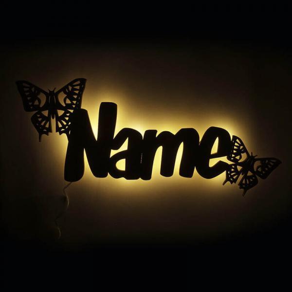 Nachtlicht Schmetterling mit Namen