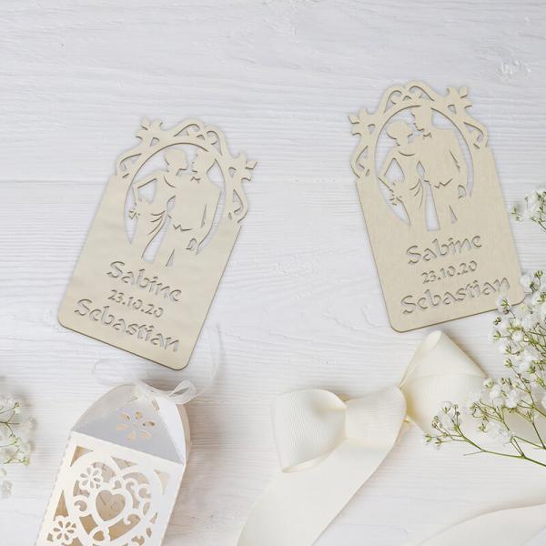 Gastgeschenk Hochzeit Verlobung 10er Pack mit Namen & Datum