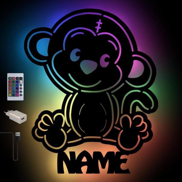Affenlampe mit Farbwechsel und Personalisierung