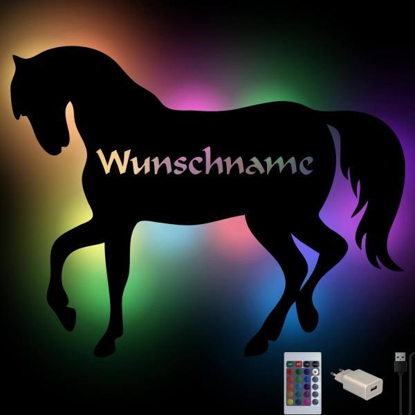 Farbwechsel Pferde Wand Lampe Nachtlicht personalisiert