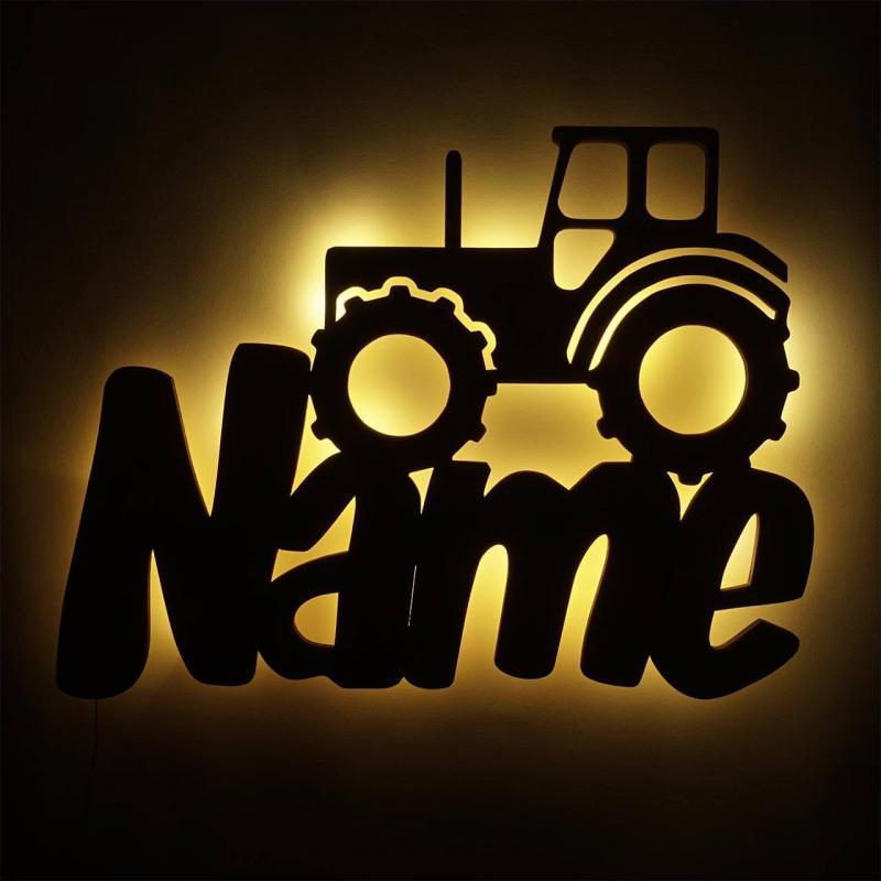 - LED Lampe Nachtlicht Traktor Trekker mit Namen - Onlineshop Schlummerlicht24