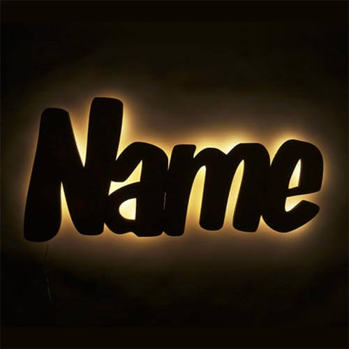 Namenslampe für Kinder