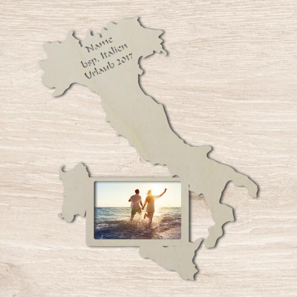 Italien Umrisse Venedig Geschenkidee Tür-Schild Bilderrahmen Sovenier Geschenke Deko Unbehandelt