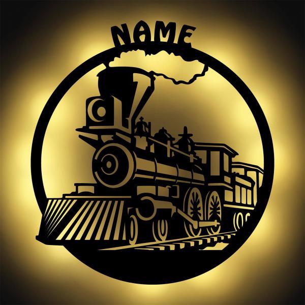 Eisenbahn Zug Lok LED Geschenk für Zugliebhaber