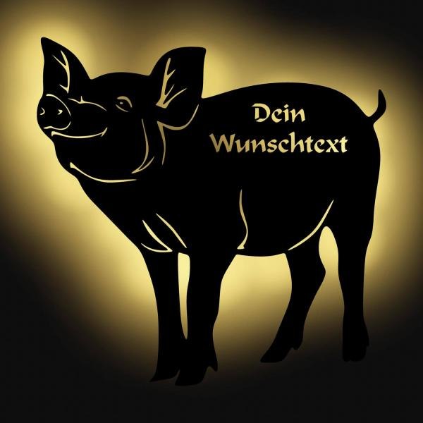 Danke Geschenke Metzger LED Schwein