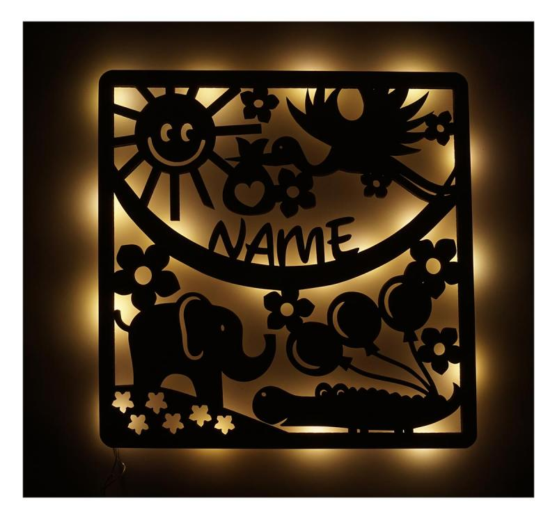 - Babyzimmer Deko LED Nachtlicht mit Namen - Onlineshop Schlummerlicht24