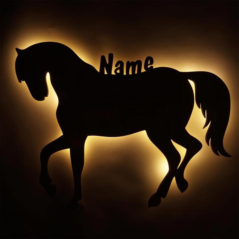 - Pferde Geschenkidee Mädchen Lampe Nachtlicht mit Namen... - Onlineshop Schlummerlicht24