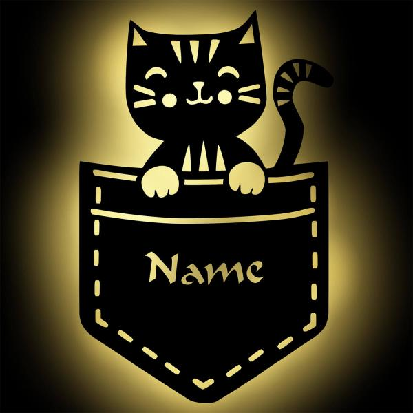 Katze LED Nachtlicht Wandlampe für Kinder